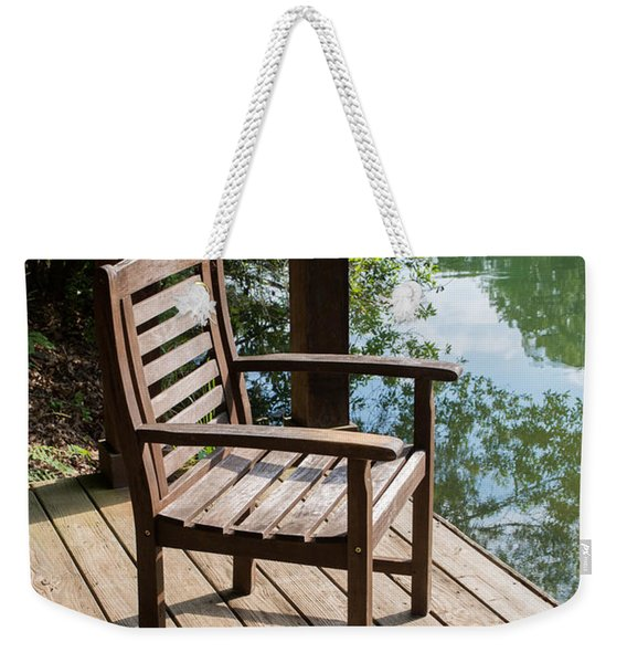 Alone By The Lake Weekender Tote Bag