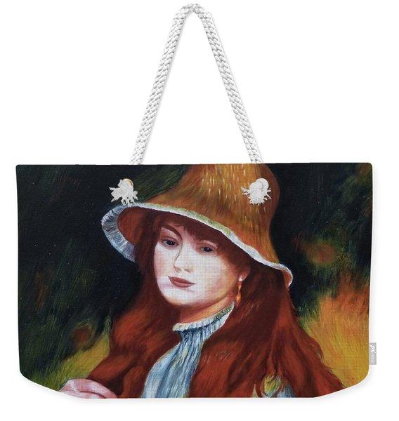 Renoir-young Girl In A Straw Hat Weekender Tote Bag