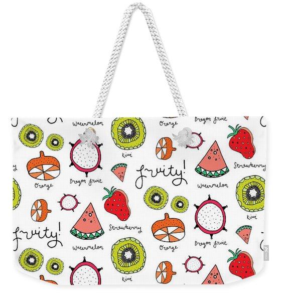 Repeat Print - Fruits Weekender Tote Bag