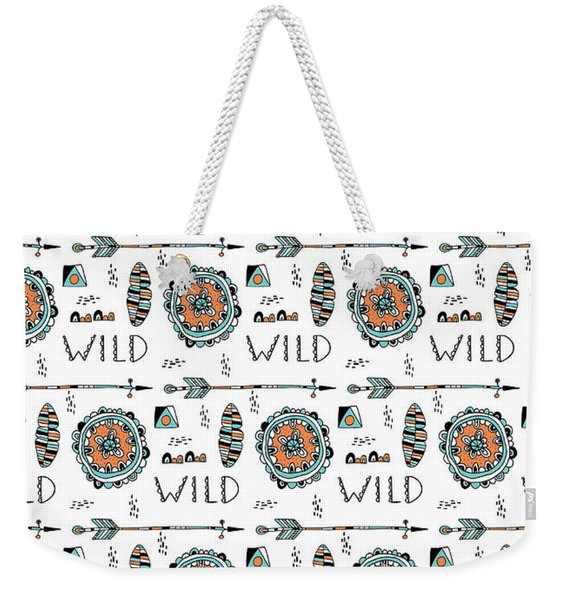 Repeat Print - Wild Weekender Tote Bag