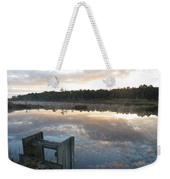 Reservoir Reflections Weekender Tote Bag
