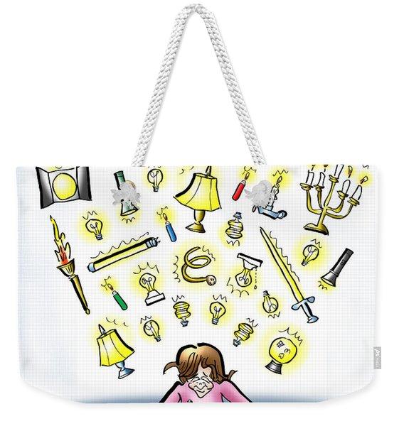 Respect Your Imagination Weekender Tote Bag