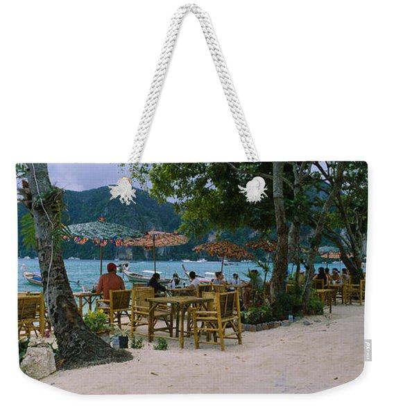 Restaurant On The Beach, Ko Phi Phi Weekender Tote Bag