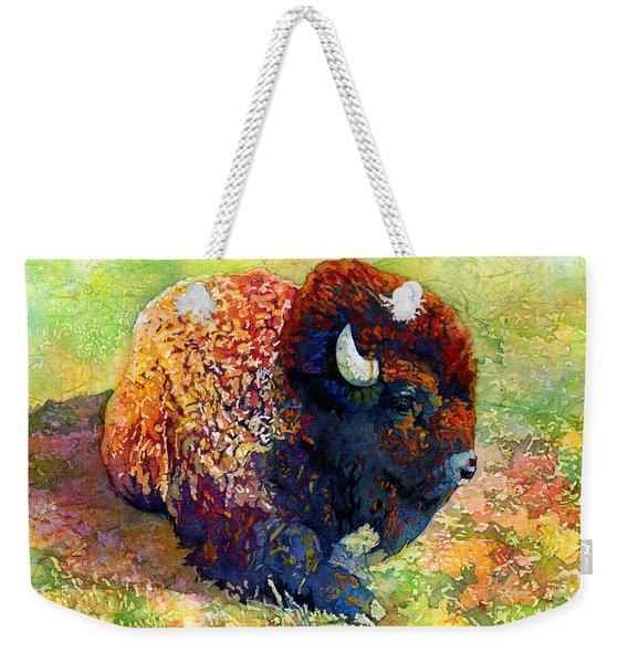 Resting Bison Weekender Tote Bag