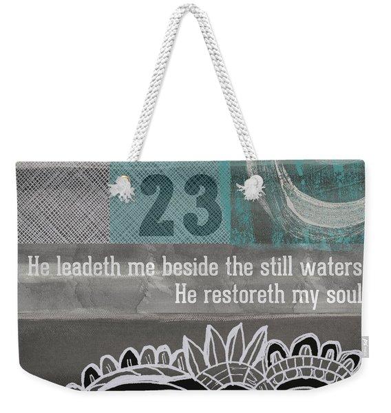 Restoreth My Soul- Contemporary Christian Art Weekender Tote Bag