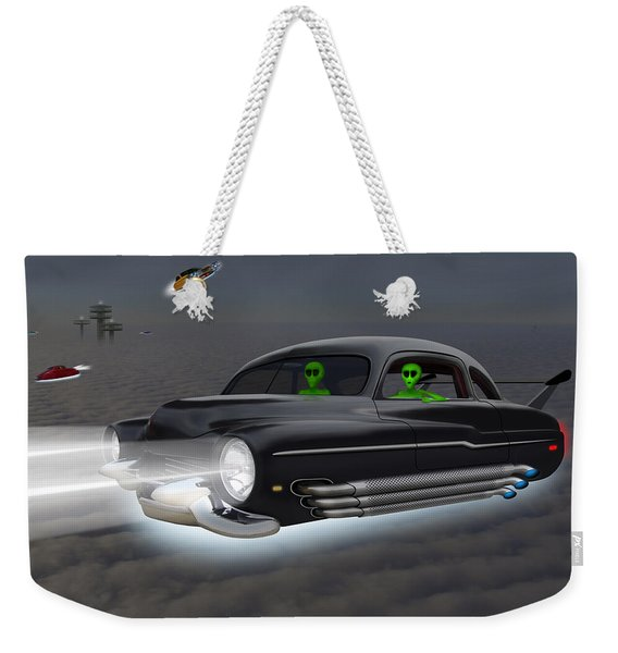 Retro Flying Objects 4 Weekender Tote Bag