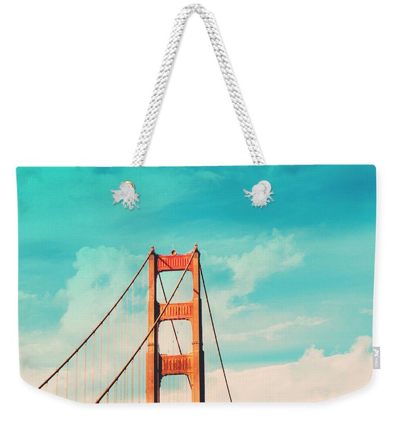 Retro Golden Gate - San Francisco Weekender Tote Bag