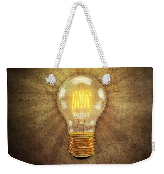 Retro Light Bulb Weekender Tote Bag