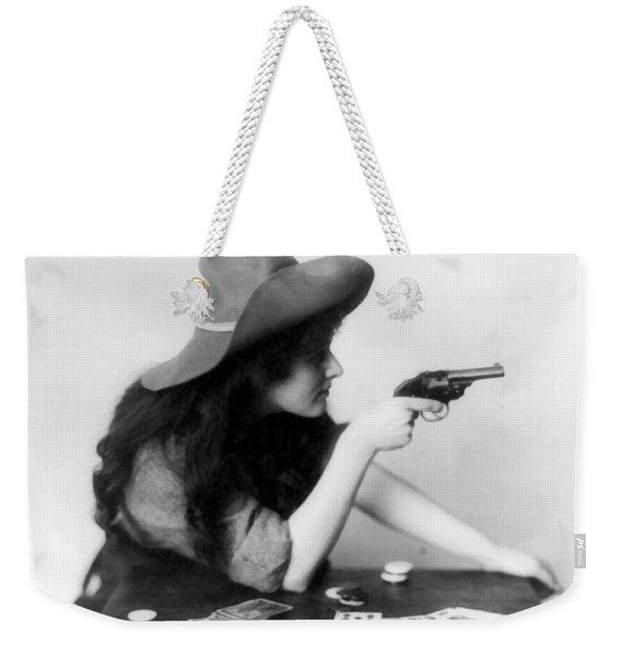 Revolver Girl Weekender Tote Bag
