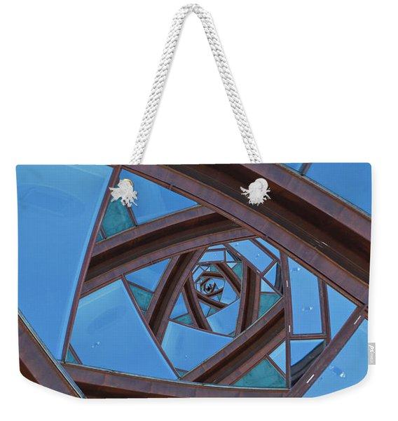 Revolving Blues. Weekender Tote Bag
