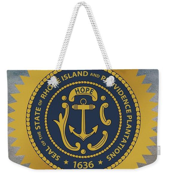 Rhode Island State Seal Weekender Tote Bag