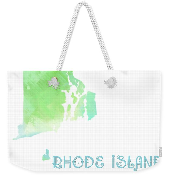 Rhode Island - The Ocean State - Plantation State - Map - State Phrase - Geology Weekender Tote Bag