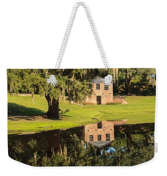 Rice Mill  Pond Reflection Weekender Tote Bag