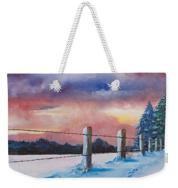 Rich Wintertide Weekender Tote Bag
