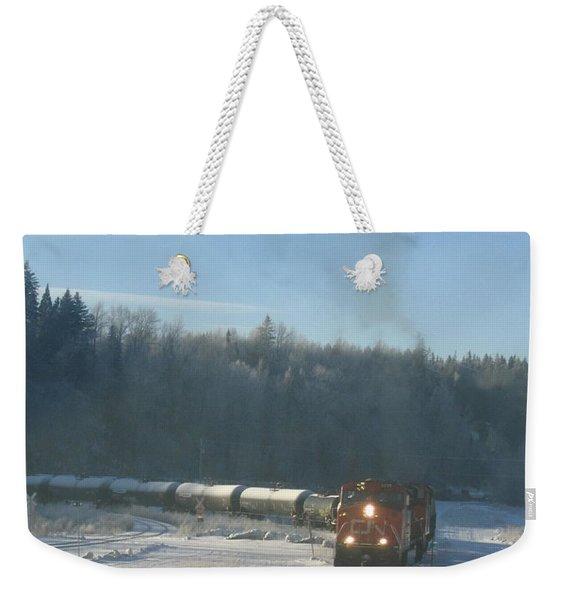 Ride The Rails Weekender Tote Bag