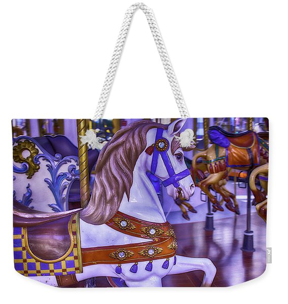 Ride The White Horse Weekender Tote Bag