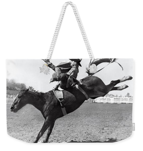 Riding A Bucking Bronco Weekender Tote Bag