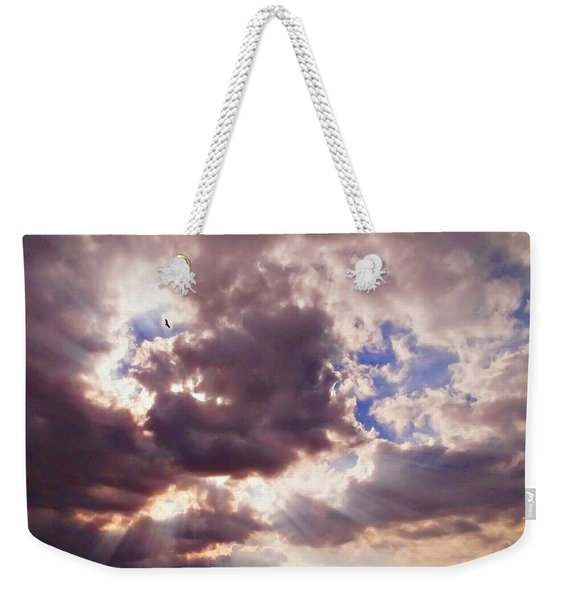 Riding The Invisible Weekender Tote Bag