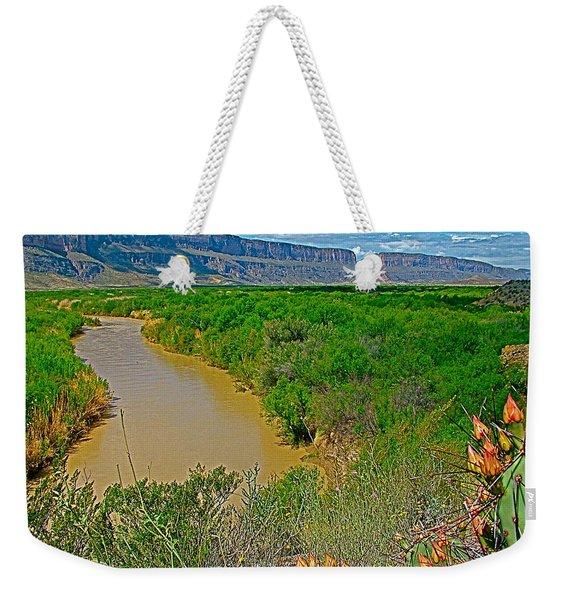Rio Grande East Of Santa Elena Canyon In  Big Bend National Park-texas Weekender Tote Bag