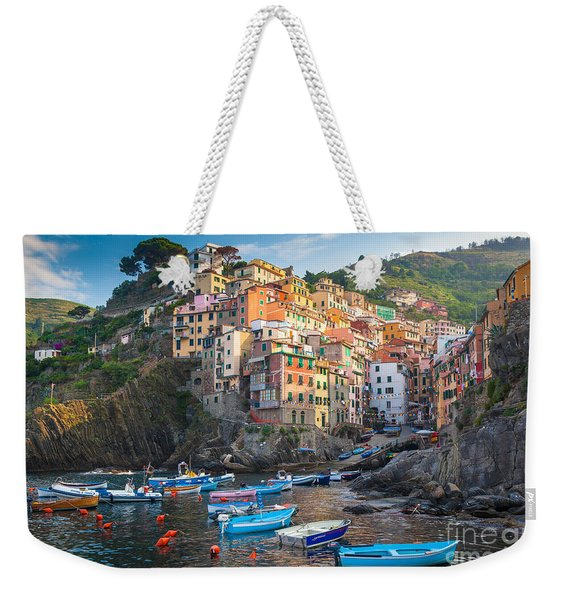 Riomaggiore Boats Weekender Tote Bag