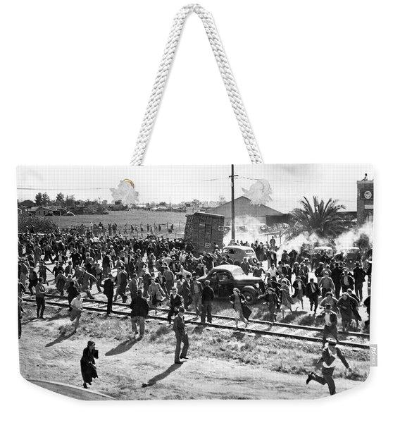 Riots At Cannery Strike Weekender Tote Bag