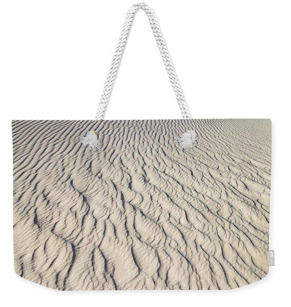 Rippled Dunes In White Sands Weekender Tote Bag