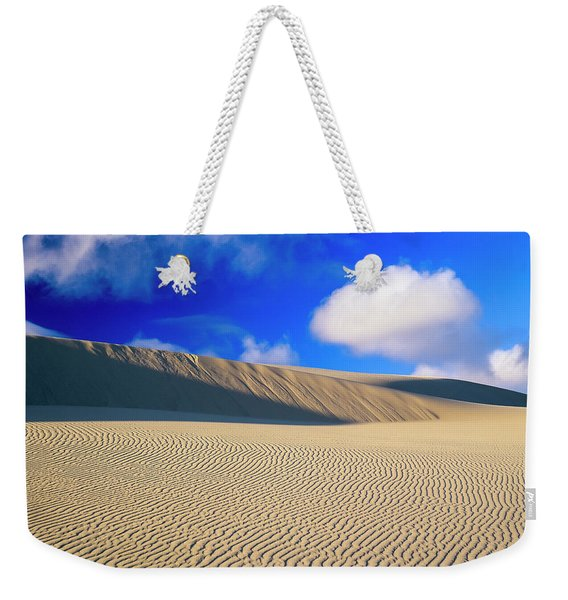 Rippled Sand And Dunes With Blue Sky Weekender Tote Bag