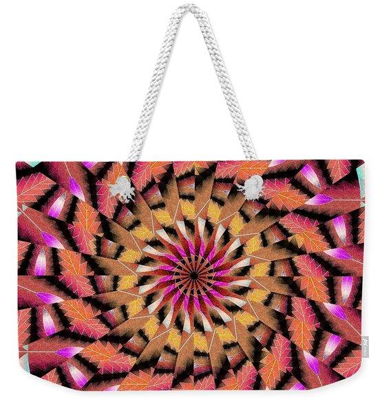 Rippled Source Kaleidoscope Weekender Tote Bag