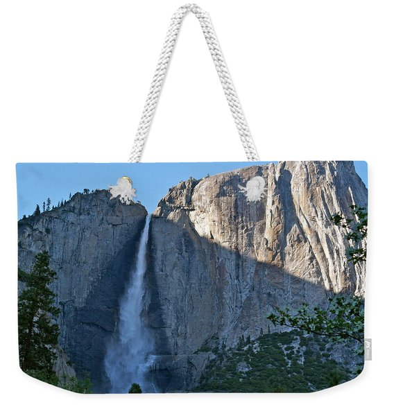 Rising Sun At Upper Yosemite Falls Weekender Tote Bag