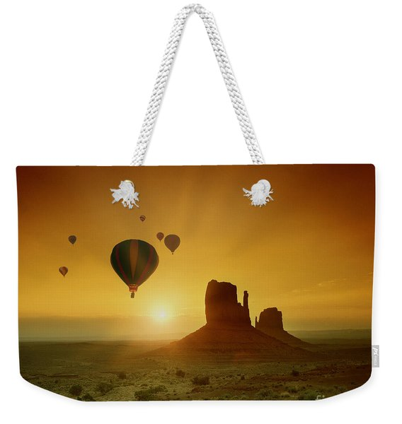 Rising To The Sun Weekender Tote Bag
