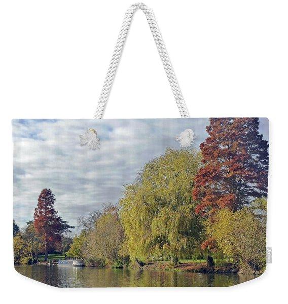 River Avon In Autumn Weekender Tote Bag