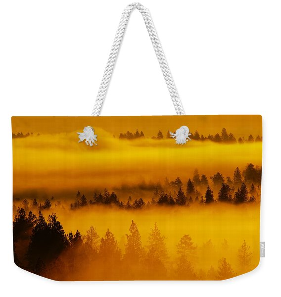 River Fog Rising Weekender Tote Bag