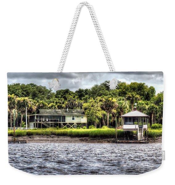 River House On Wimbee Creek Weekender Tote Bag