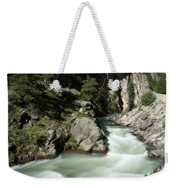 River In Colorado Weekender Tote Bag