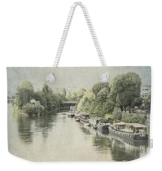 River Seine In Paris Weekender Tote Bag