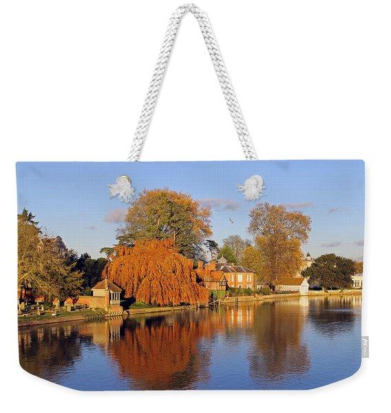 River Thames At Marlow Weekender Tote Bag