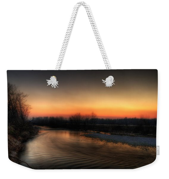 Riverscape At Sunset Weekender Tote Bag