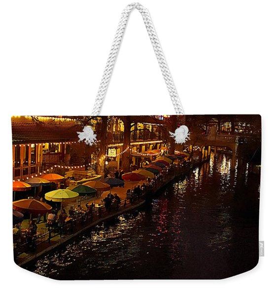 Riverwalk Night Weekender Tote Bag