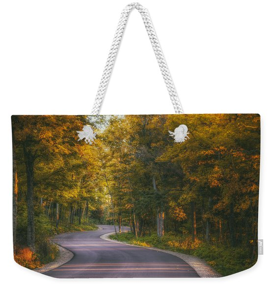 Road To Cave Point Weekender Tote Bag
