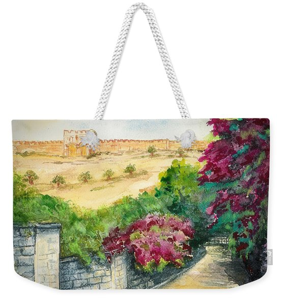 Road To Eastern Gate Weekender Tote Bag