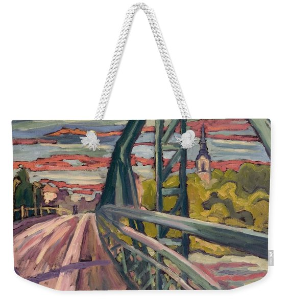 Road To My Town, 2004 Oil On Canvas Weekender Tote Bag