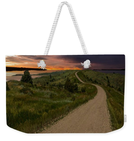 Road To Nowhere - Stormy Little Bend Weekender Tote Bag