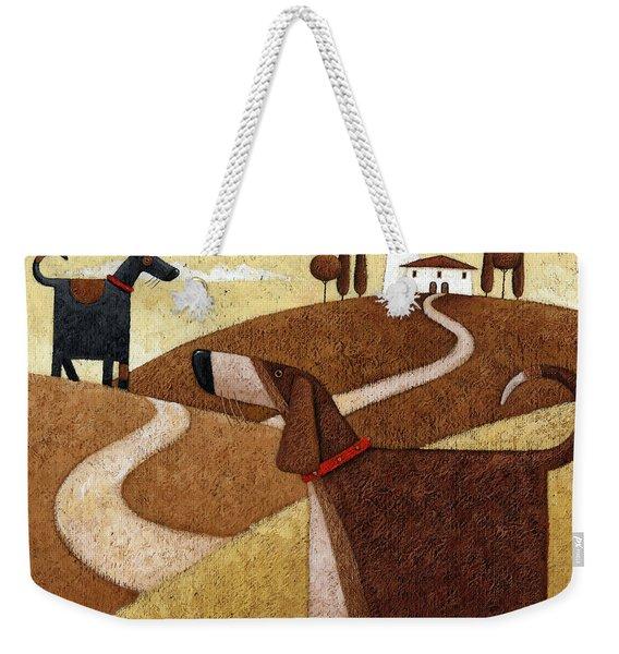 Road To Tuscany Weekender Tote Bag