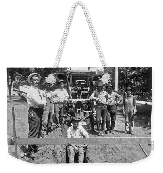 Road Workers In La Weekender Tote Bag