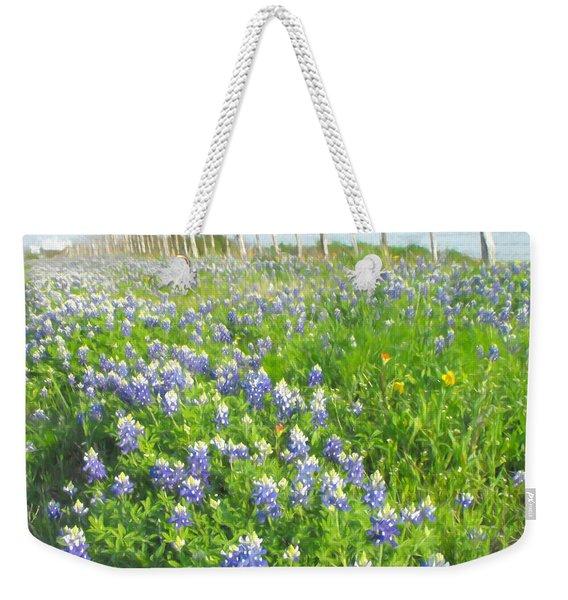 Roadside Bluebonnets  Weekender Tote Bag