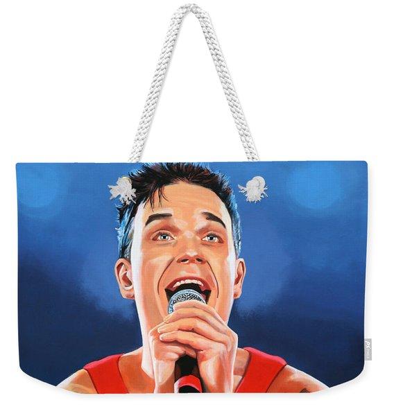 Robbie Williams Painting Weekender Tote Bag