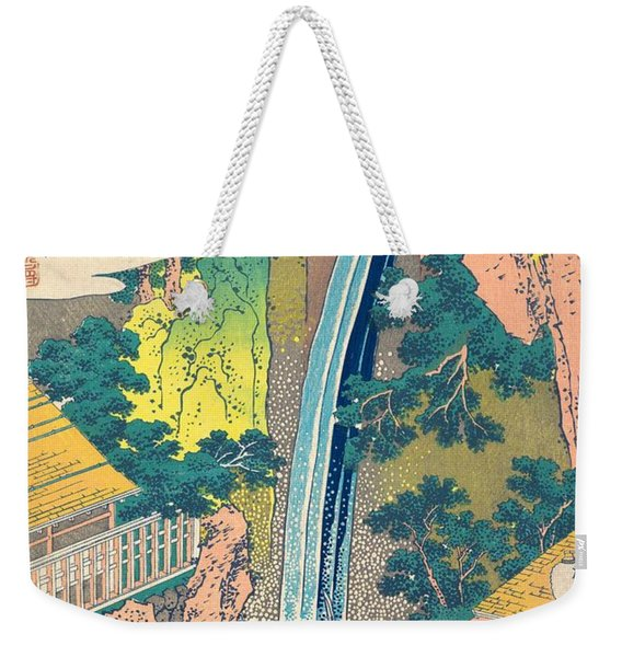 Roben Waterfall At Oyama In Sagami Province Weekender Tote Bag