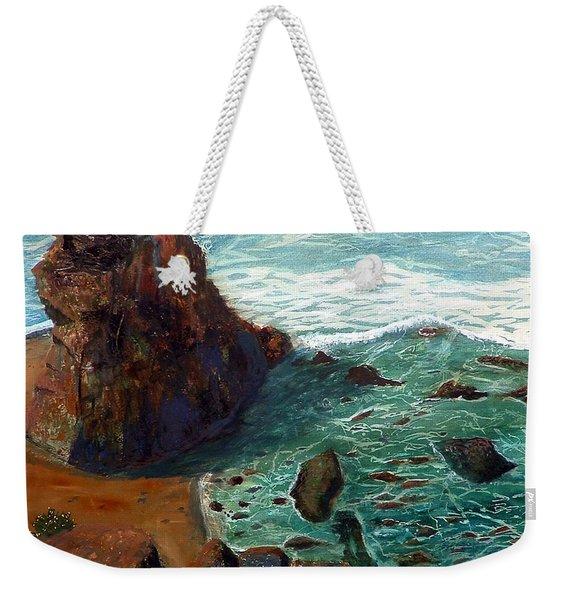 Rock Beach And Sea Weekender Tote Bag