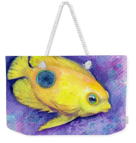 Weekender Tote Bag featuring the painting Rock Beauty by Ashley Kujan