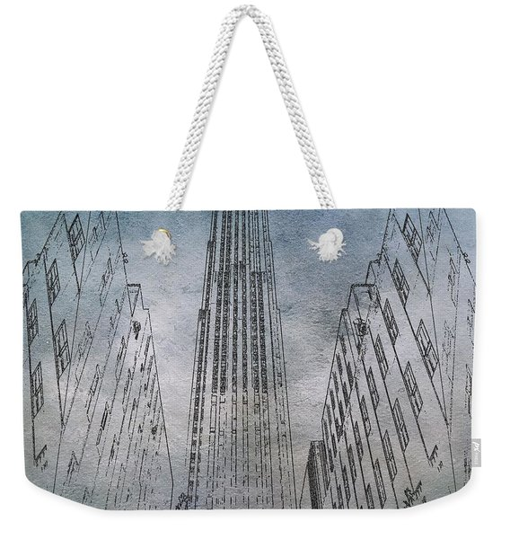 Ge Building Facade Sketch Weekender Tote Bag